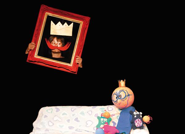 Himmelblau und sein Papa, der König